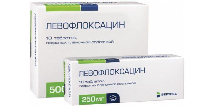 Таблетки левофлоксацина