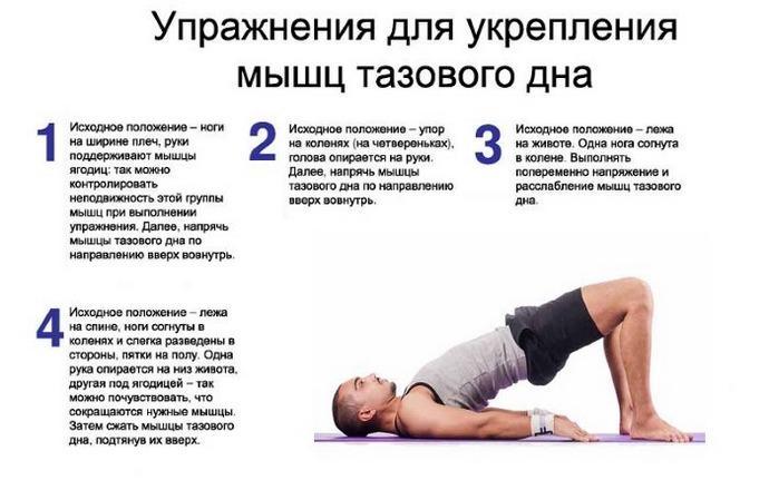 Упражнения для мышц таза