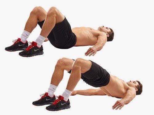 Упражнение с поднятием таз