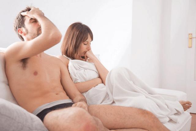 После секса член быстро падает