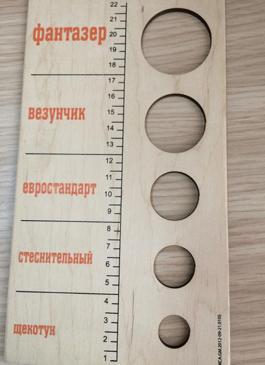 Линейка для измерения толщины члена («членомер»)