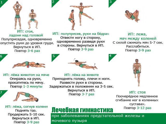 Лечебная гимнастика при заболеваниях предстательной железы и мочевого пузыря