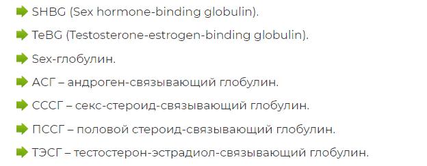 Синонимы ГСПГ
