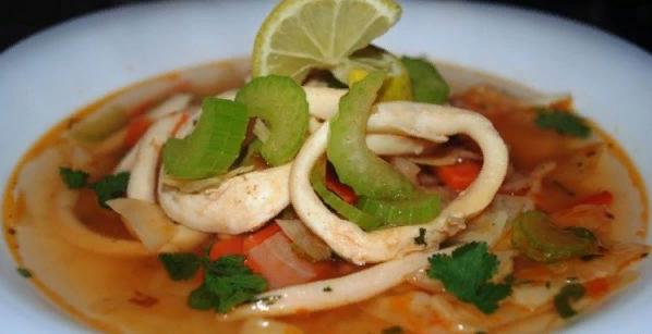 Суп из кальмаров