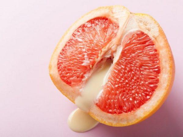 Грейпфрут с йогуртом